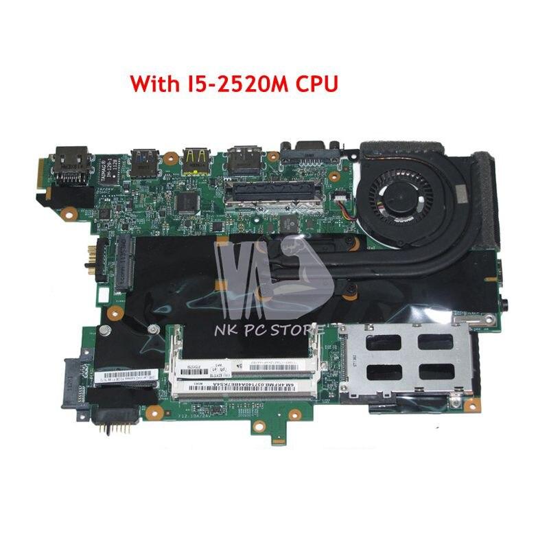 NOKOTION 63Y1718 63Y1914 Tablero Principal para Lenovo thinkpad T420S placa base de computadora portátil I5-2520M 48.4KF58! 041 QM67 GMA HD3000 DDR3