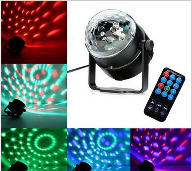 110V 220V Mini RGB LED bola mágica de cristal efecto de escenario iluminación lámpara bombilla fiesta discoteca DJ luz espectáculo de láser Lumiere Beam SL01