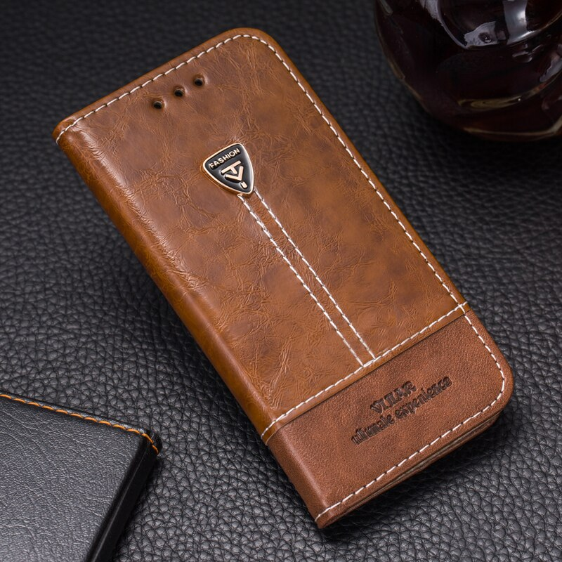 VIJIAR 5,0 para acer Z6e caso buen gusto Flip cuero distinguida Retro teléfono móvil 5,0 para acer liquid z6e funda