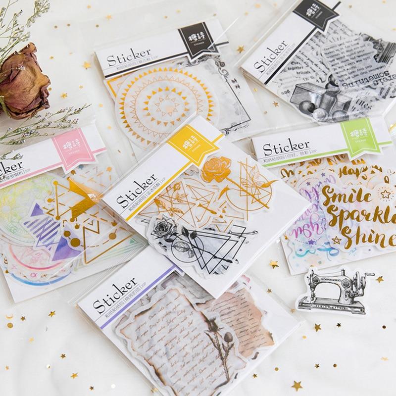 20 unids/pack creativo lindo Irregular forma pegatina de papel para decoración álbum de recortes diario etiqueta pegatina Kawaii Stationaries