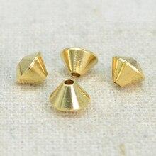 100 sztuk 6*4.5mm Metal Raw podkładka mosiężna koraliki 1.2mm koraliki z dziurką DIY luźne koraliki do tworzenia biżuterii
