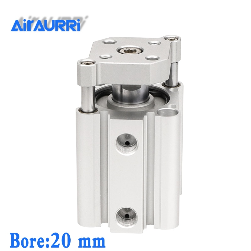 smc type air cylinder CQMB bore 20mm stroke 5/10/15/20/25/30/35/40/45/50mm Double Acting compact pneumatic rod guide cylinder sda cylinder compact pneumatic air 20mm bore 5 100mm stroke sda20 pneumatic double acting cylinder air piston cylinder sda20 25