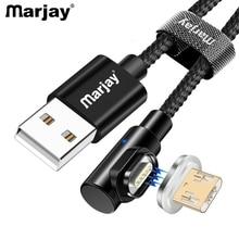 Câble magnétique Micro USB Marjay 1m 2m câble adaptateur de charge rapide câbles de téléphone Microusb chargeur de données Android pour tablette Xiaomi redmi