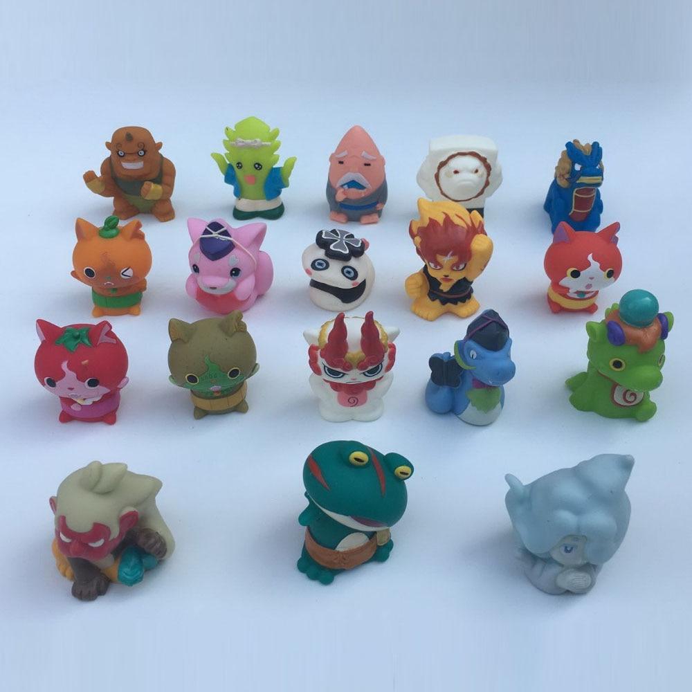 Reloj Youkai de dibujos animados de Anime, adorable minimarioneta de dedo, muñecas de figuras de PVC de juguete, 4-5,5 cm, mezclado al azar, envío gratis