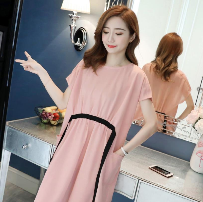 Pregnant Women Clothing Maternity Nursing Summer Dress With Elastic Waistband Clothes Pregnant Women Sweety Pregnancy Dress enlarge