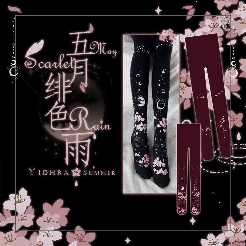 Princesa dulce lolita princesa japonesa reflejo de agua Luna Sakura medias bk19