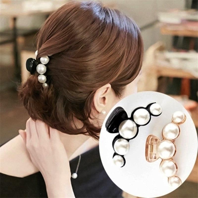 Accesorios para el pelo Pelo clip de adorno para el cabello brillante de diamantes de imitación de pinzas para el pelo estilo cangrejo para Mujer Accesorios de cabeza