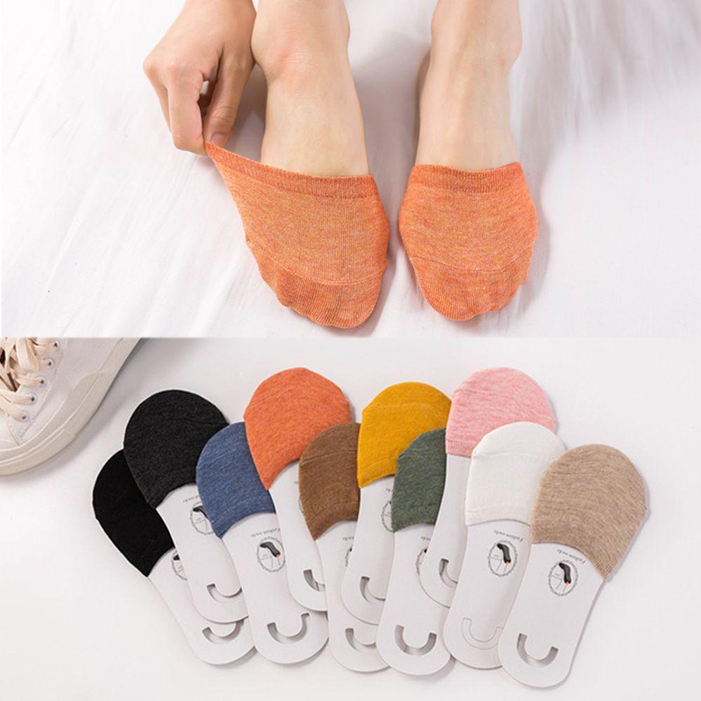 2020 nuevos calcetines de verano para mujer calcetines de antepié finos de algodón calcetines de sudadera antideslizantes zapatillas de tacón alto La mitad invisible calcetines de pie