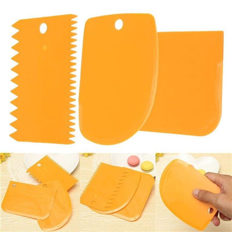 3 шт./компл. резак для теста, резак для торта, инструменты для выпечки хлеба, скребок для торта, нож-шпатель