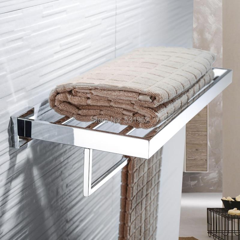 رف حمام مزدوج مقاس 23 بوصة ، سكة مناشف ، قضيب ، مثبت على الحائط ، فولاذ مقاوم للصدأ مصقول ، تخزين