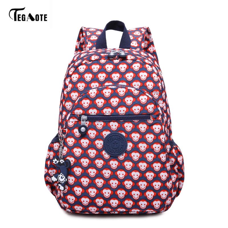 Женский мини-рюкзак TEGAOTE, с цветочным принтом, нейлоновый, для девочек-подростков