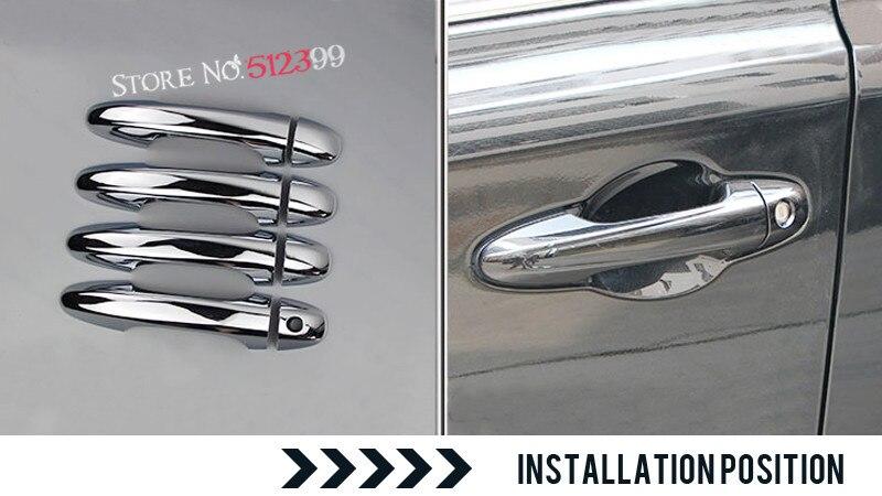 ¡Accesorios Exterior! 8 unids/set ABS cromado manija de la puerta de la cubierta decorativa para Toyota Harrier XU60 2013 2014 2015 2016 2017