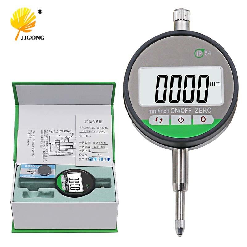 """IP54 маслостойкий цифровой микрометр, 0,001 мм Электронный микрометр, метрический/дюймовый 0-12,7 мм/0,5 """"точный индикатор циферблата"""