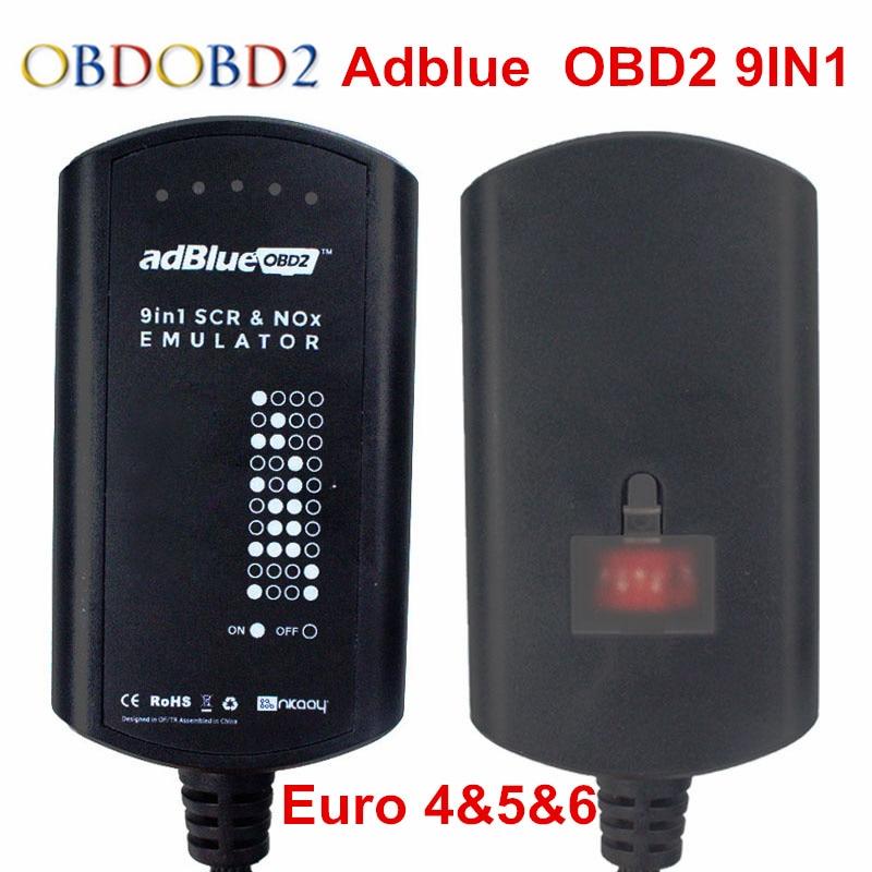 Adblue emulador 9 em 1 de chip completo, ferramenta de diagnóstico do caminhão obdii, emulação, 2018 para daf