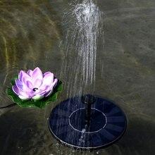 Pompe de fontaine à énergie solaire flottant sans brosse fontaine de jardin solaire bain doiseau Kit de pompe à eau détang avec différentes têtes de pulvérisation