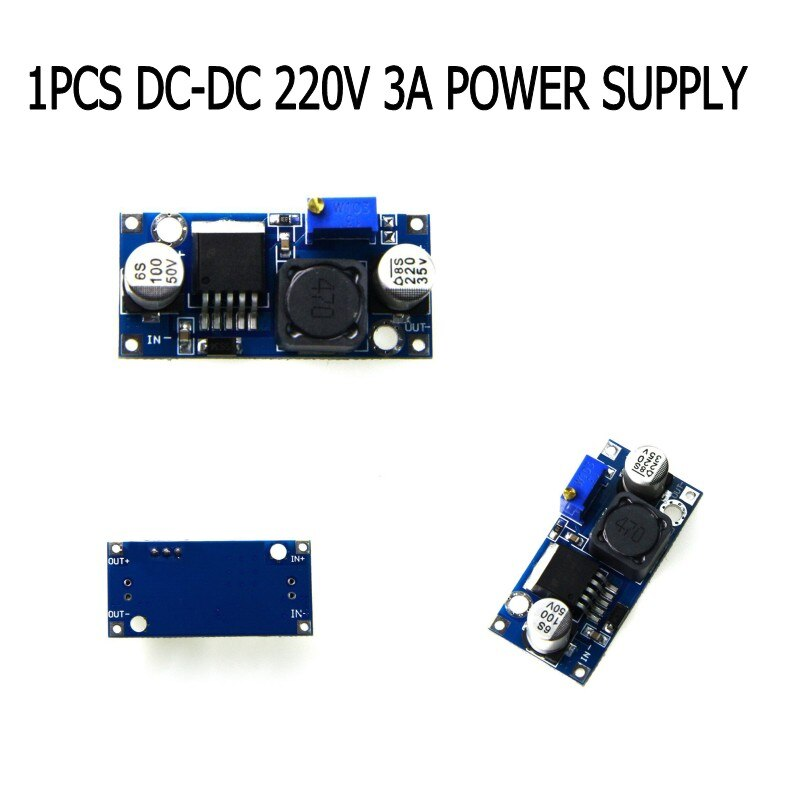 Módulo regulador reductor de CC LM2596S Buck 3,2-40 V a 1,25-35 V BUCK 3A ajustable regulador de voltaje de X2213