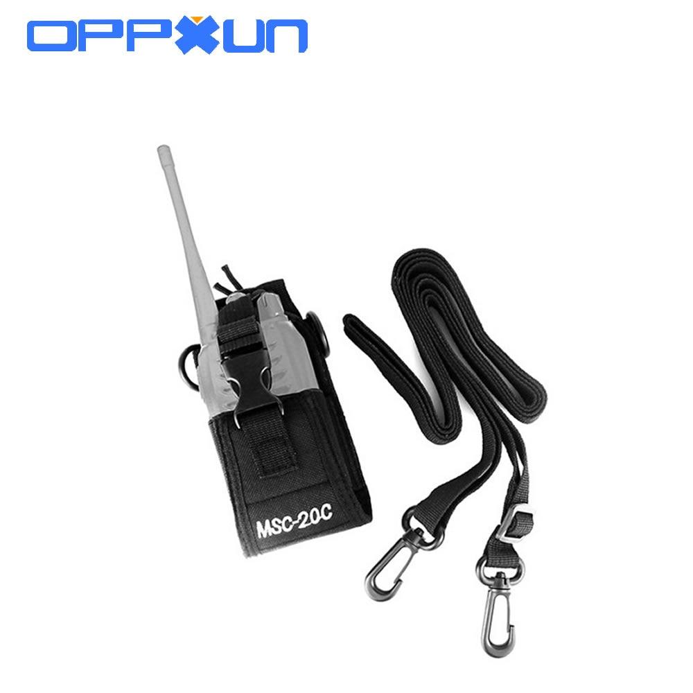 OPPXUN de alta calidad MSC-20C de Nylon Radio funda bolsa de soporte para Baofeng UV-B5 UV82 UV8 D GT-3 UV5R 888S bolsa de Nylon Accesorios