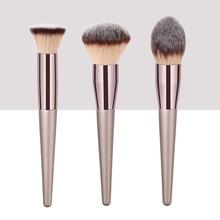3 de gran tamaño único champán pinceles de maquillaje llama tapered base con forma en polvo de cepillo cosmético de cabeza herramienta, maquiagem
