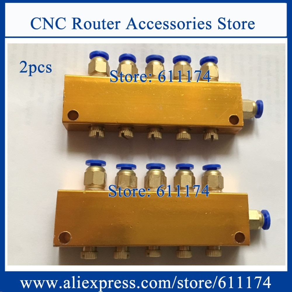 2pcs/lot grease distributor 3way 5way 6way Adjustable oil discharge ,Lubrication pump oil separator 4mm/6mm