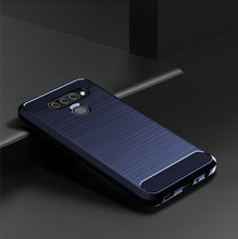 Pour LG K50S Q60 K40 étui en Fiber de carbone brossé étui housse pare-chocs en Silicone souple pour LG Stylo 5 K40 V60 Q70 G8X housse de téléphone Capa