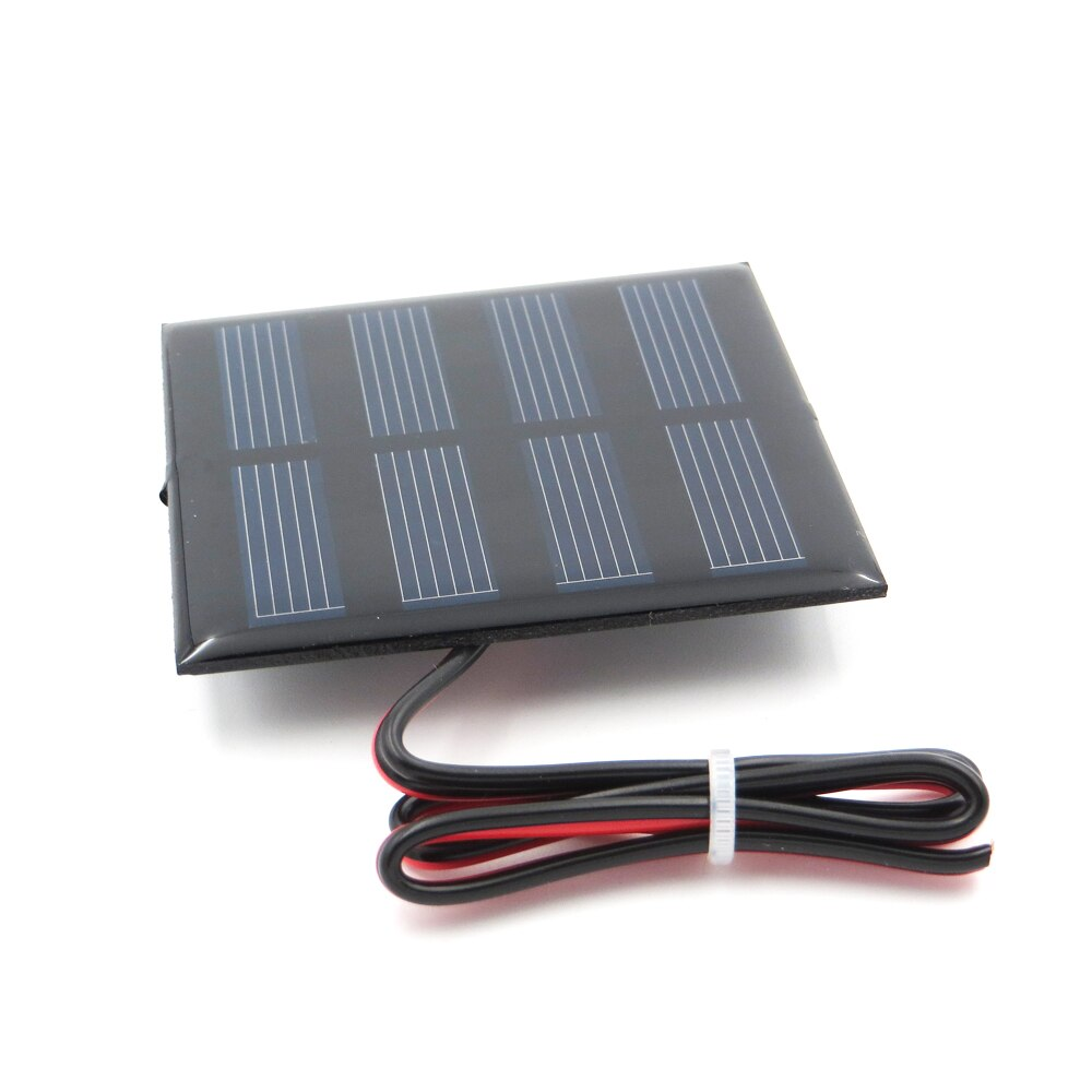 2 V 150mA 0,3 W con 30cm extender el cable Panel solar policristalino de silicona DIY cargador de batería pequeño Mini cable de módem toy 2 V Volt