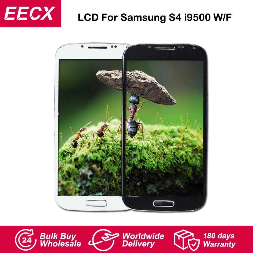 I9505 LCD para Samsung Galaxy S4 pantalla LCD i9505 i9500 LCD i337 pantalla LCD MONTAJE DE digitalizador con pantalla táctil con marco