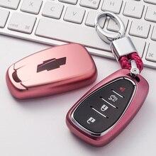 TPU Cas de Clé de Voiture Auto Clé de Protection de Couverture Pour Chevrolet Nouvelle Malibu XL Équinoxe De Voiture coque de Protection Coloré De Voiture de Coiffure accessoires