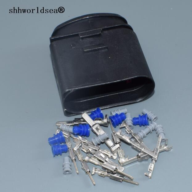 Shhworld 1 комплект для VW 14pin 1,5 мм 3,5 мм ксеноновые фары разъем 1J0973837 лампа-розетка разъем для фар 1J0 973 837