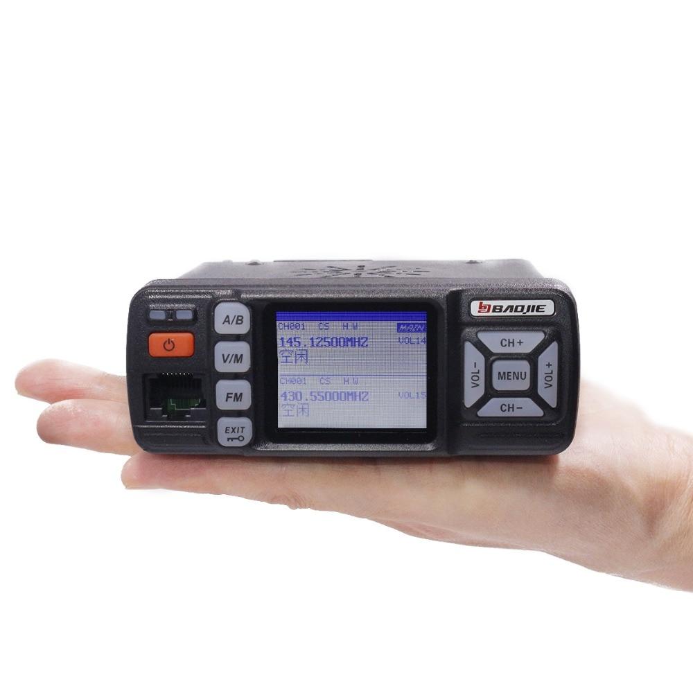 Baojie BJ-318 Mini Mobile Radio Car 20KM long range Walkie Talkie 25W Dual Band VHF/UHF Station upgrade of bj-218