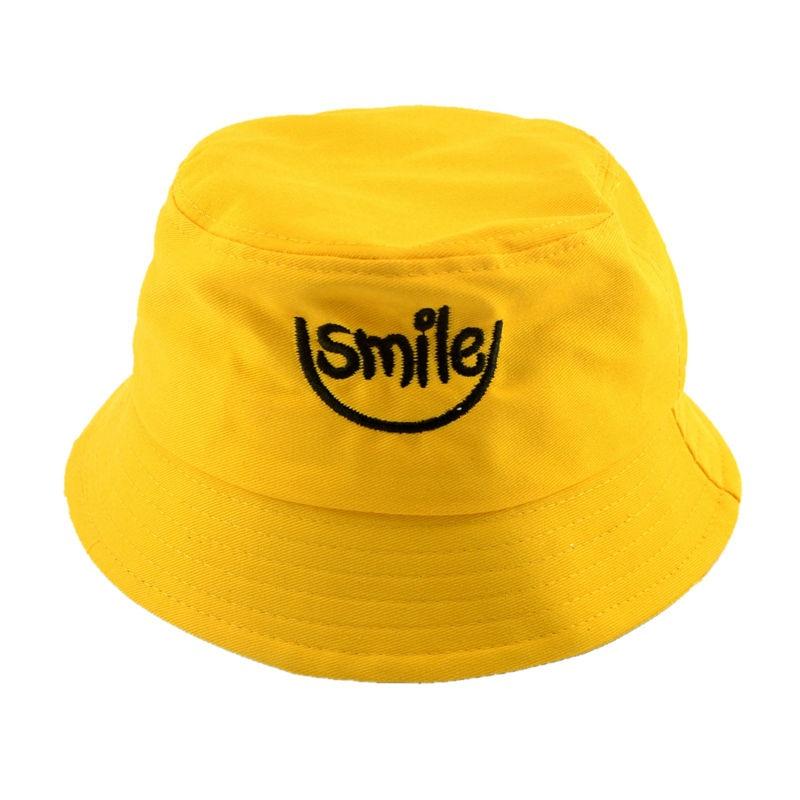 Sombrero de playa para niños pequeños, sombrero de Sol para niñas, sombrero de cubo de niños, sombrero de verano de algodón para niños, Sombrero de Panamá personalizado, gorra de sonrisa H164S