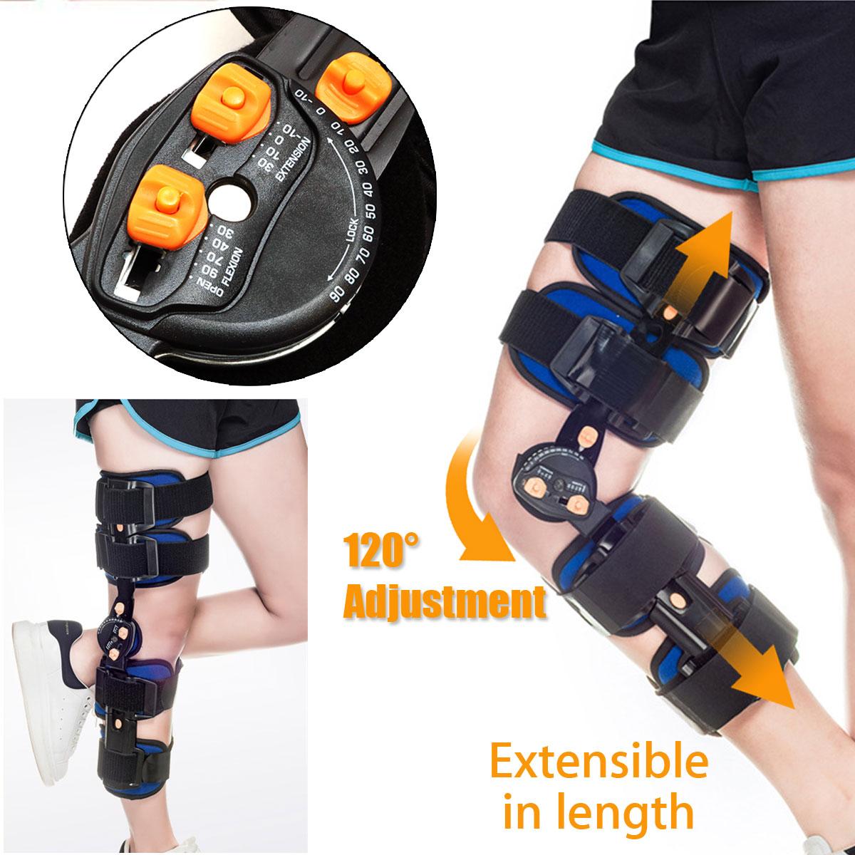 KIFIT Professional T-Scope ROM Post Op Knee Brace Adjustable Hinged Leg Universal Size Braces & Supports
