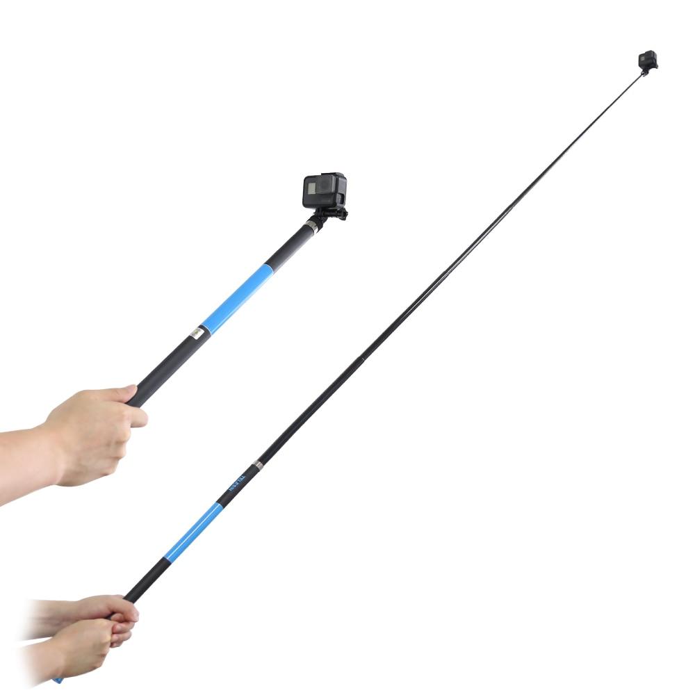 "TELESIN 106 ""de largo, de fibra de carbono palo autofoto Handheld Polo extensible Monopod para GoPro Hero 6 5 4 3 Xiaomi YI SJCAM Eken apagado SOOCOO"