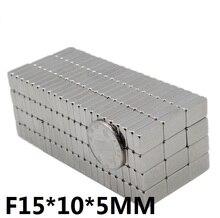 10pcs/lot Magnet 15x10x5 N35 Strong mm Square NdFeB Rare Earth Magnet 15*10*5 Neodymium Magnets