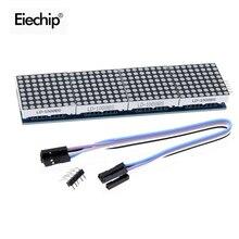 MAX7219 Modulo A Matrice di punti Per Arduino Microcontrollore 4 In Un Unico Display A LED 5P Linea MAX7219 display 8x8 matrix Fai Da Te Elettronico