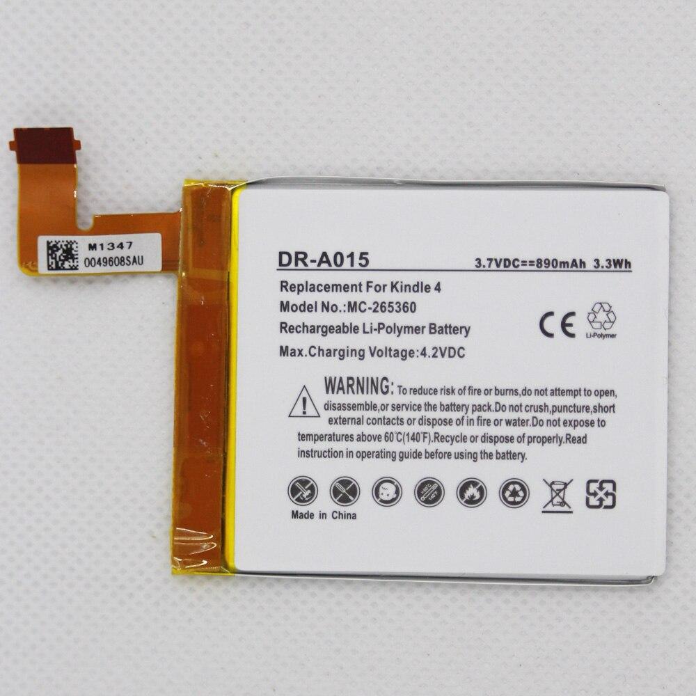 Batería ISUNOO DR-A015 de 890mAh para Amazon Kindle 4 5 6 D01100 515-1058-01 batería de MC-265360 S2011-001-S con herramientas adhesivas