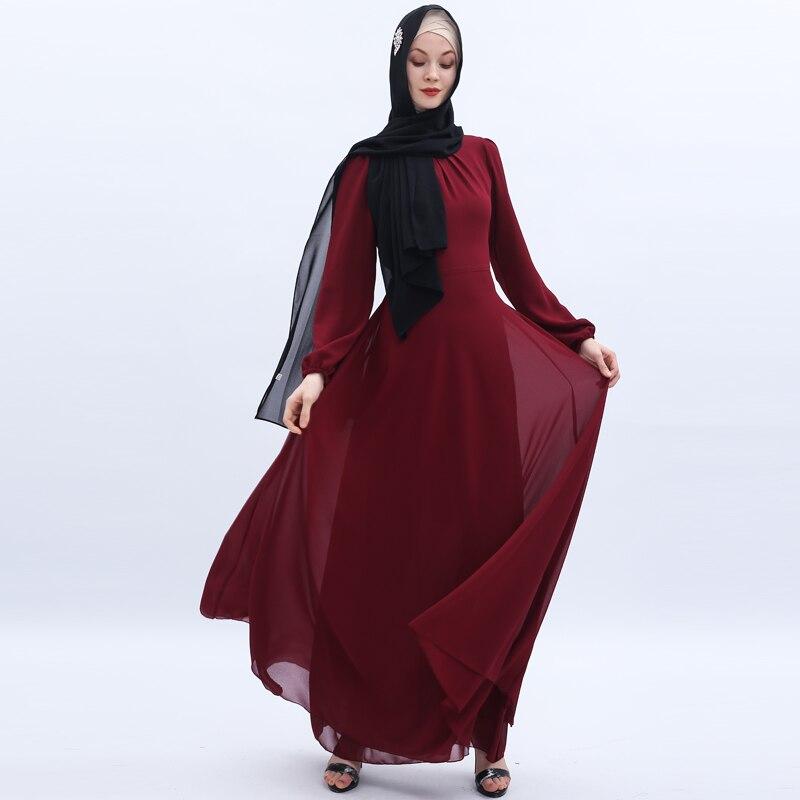 Vestidos de gasa Abaya Dubai Pakistani Hijab musulmán vestido mujeres caftán Elbise turco Vestidos túnica árabe musulmana Longue