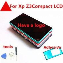 4.6 polegada de toque para sony xperia z3 compacto mini d5803 d5833 z3c z3mini display lcd tela toque com quadro + plug + ferramentas cola