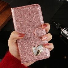 Paillettes Couverture En Cuir De Luxe Diamant Strass Pour iPhone X XS Max XR Étui Portefeuille iphone 6 7 8 Plus 11 Pro Étui de Téléphone