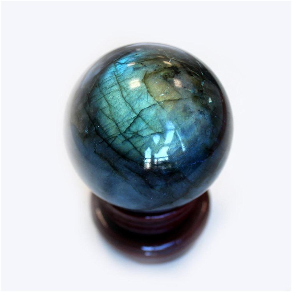 Labradorite natural rosa pedra de cristal de quartzo colorido bola de cristal pedra ametista 6cm decoração da casa pedra natural esculpida