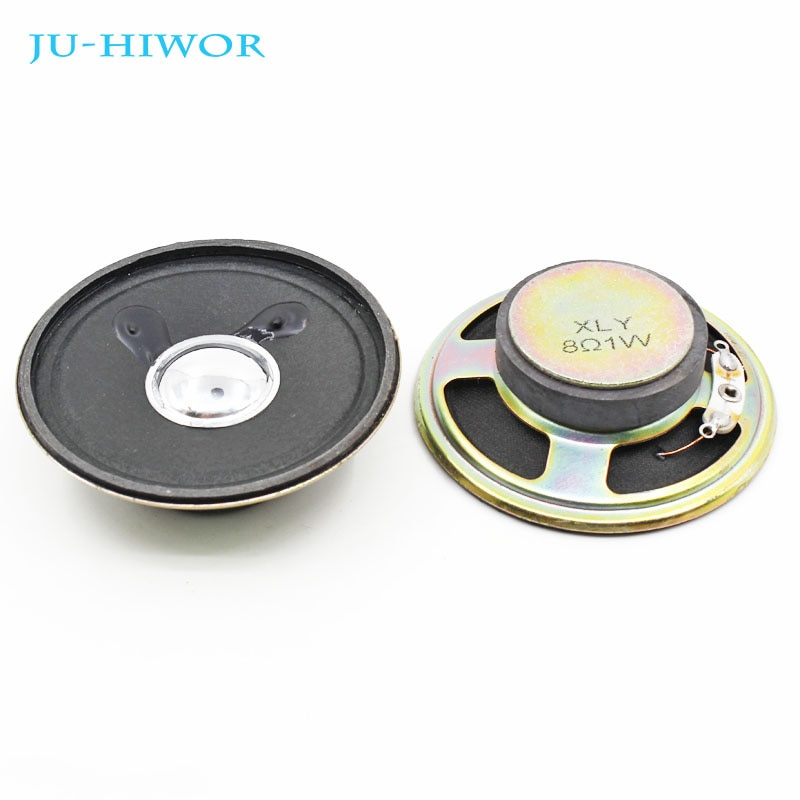 2pcs 8R 1W 57MM Loudspeaker Cone Paper Cap Speaker Magnetic 18MM Magnet Height 32MM
