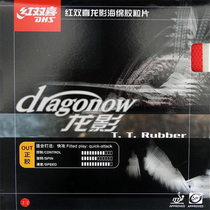 Резина для настольного тенниса DHS Dragonow (резина для быстрой атаки), резина с губкой для настольного тенниса (пинг-понга)