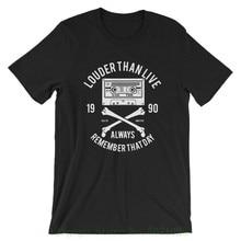 Louder Than Life T Shirt. 100% Cotton Premium Tee New Whites Cotton Kawaii Free Shipping
