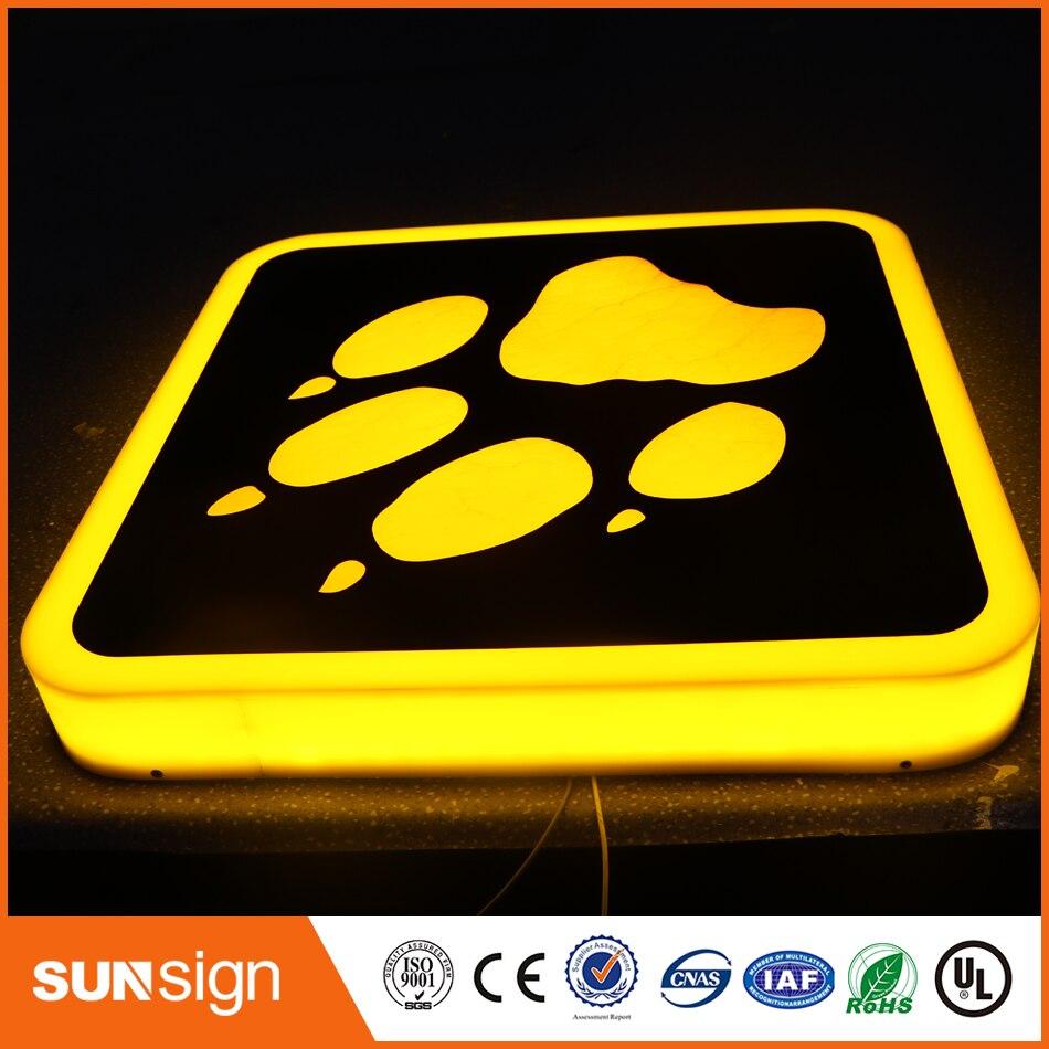 Totalmente sólido Frontlit LED canal letras caja Acylic cartel de número de habitación