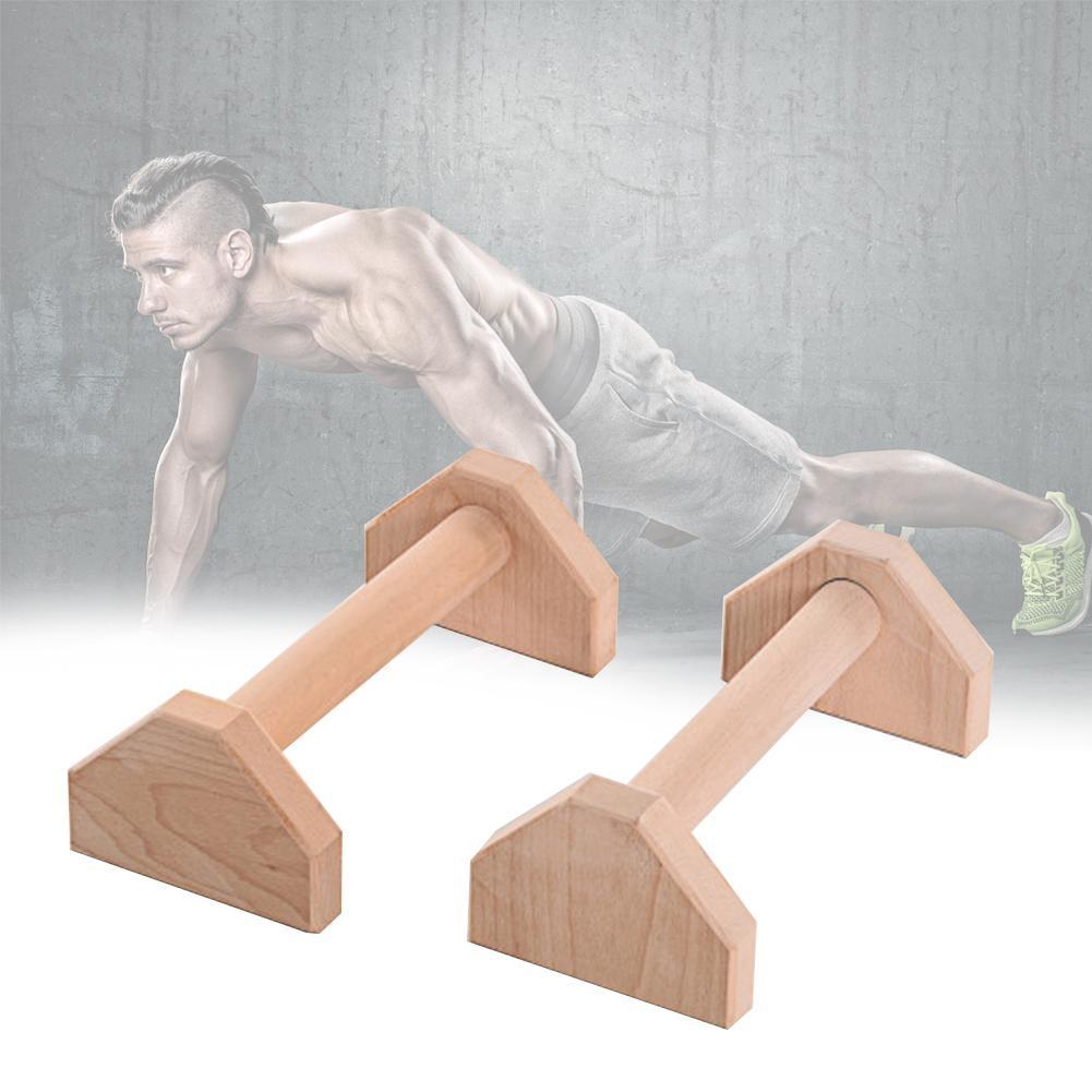 Soportes Push-Ups de 30 cm, barras dobles individuales de madera, soporte de mano Calisthenics, equipo de Fitness de doble varilla de empuje de madera