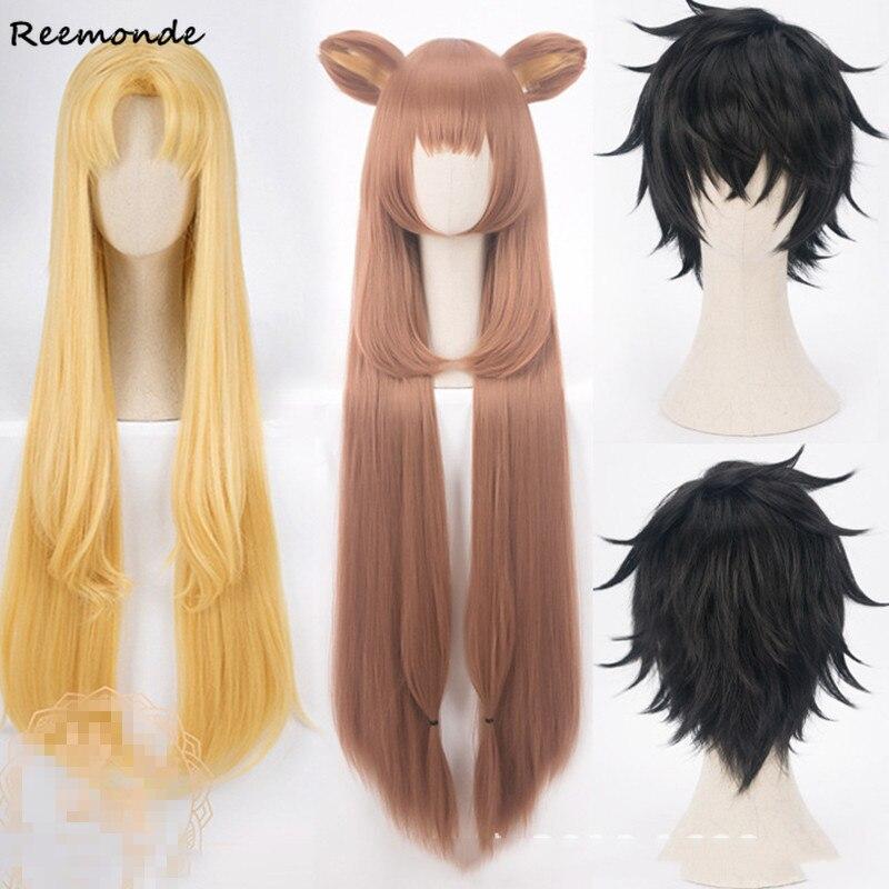 El aumento de el escudo héroe Raphtalia Naofumi Iwatani Filo pelucas Cosplay amarillo pelucas de pelo sintético largo las mujeres pelucas