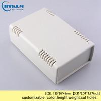 ABS junction box small desktop box for electronic projects diy plastic enclosure black plastic housing custom box 135*90*45mm