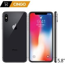 Original Apple iPhone X Face ID 5.8 pouces 3GB RAM 64GB/256GB ROM Hexa Core iOS A11 12MP double caméra arrière 4G LTE déverrouiller iPhone