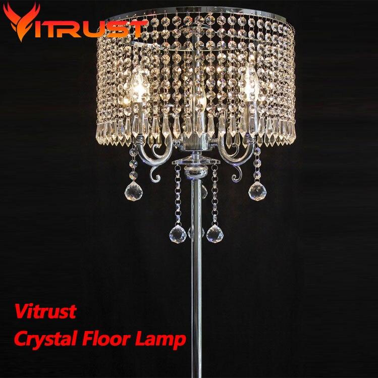 Lujosas lámparas de pie k9 de cristal para sala de estar lámpara de pie moderna lámpara de pie industrial trípode