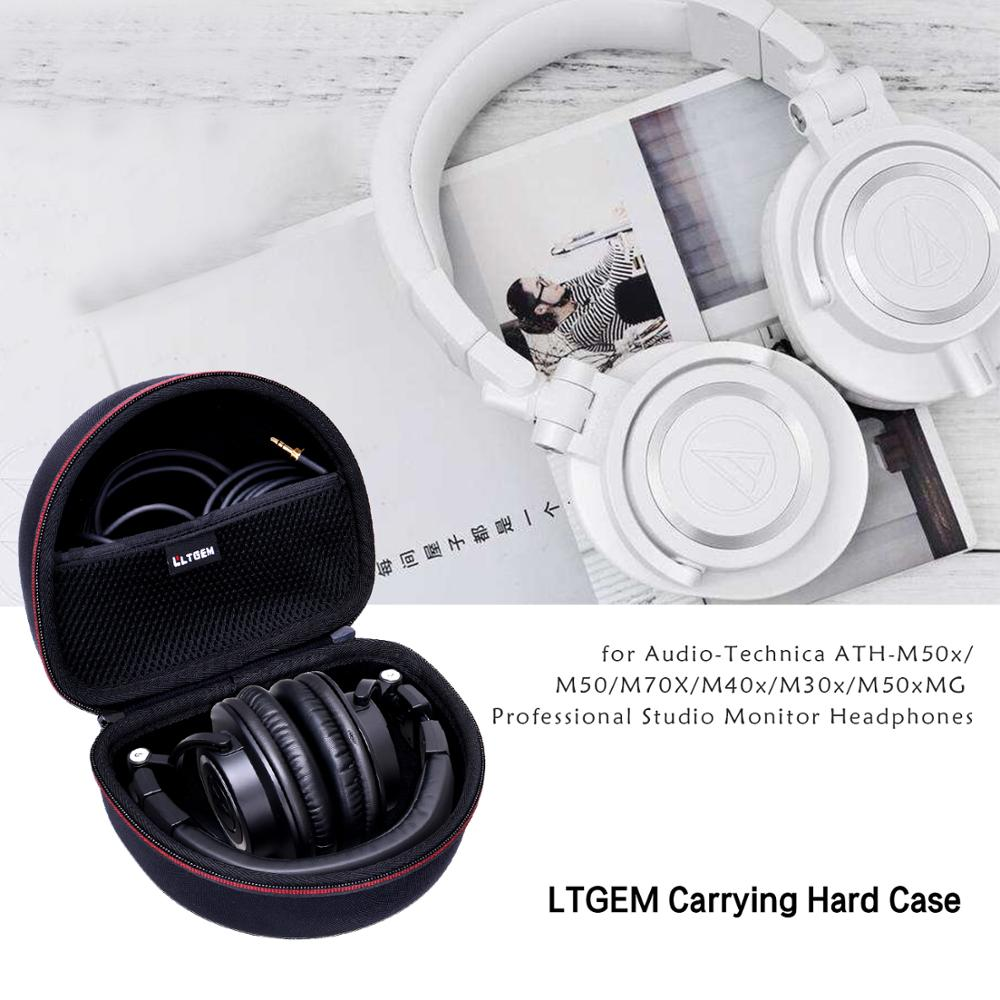 Estojo rígido ltgem para áudio-technica ATH-M50x/m50/m70x/m40x/m30x/m50xmg profissional studio monitor fones de ouvido