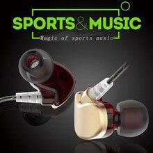 New wired control kopfhörer HD mic bass stereo noise cancelling wasserdichte sport musik sauerstoff freies kupfer draht silikon ohr riser